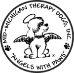 Mid-Michigan Therapy Dogs Sticky Logo